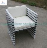 Da mobília ao ar livre do jardim do repouso da tabela da cadeira da mobília do Rattan do Rattan de duas cores mobília de vime do Rattan da mobília