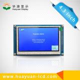 Módulo do indicador da polegada TFT LCD da caixa negra 4.3