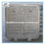 倍によって密封される盗難防止En124 D400の正方形のマンホールカバー