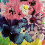 Impreso de flores 100% poliéster para el vestido y el revestimiento