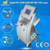 最も新しいIPL RF ND YAGレーザーの毛の取り外し機械(Elight03)