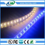 Tira azul transparente impermeável do diodo emissor de luz da alta tensão SMD3528 dos materiais 4W/M do PVC