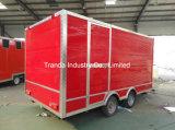 en chariot mobile de nourriture de vente, camion d'aliments de préparation rapide