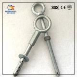 Los anillos de andamios de acero forjado galvanizado ojo los tornillos de expansión con el anclaje