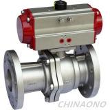 Tipo válvula da flange do aço inoxidável de atuador pneumático de esfera