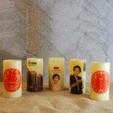 Эксплуатируемая батареей свечка штендера СИД с напечатанным логосом для домашняя декоративной