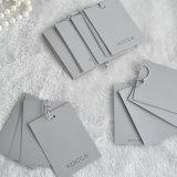 GarmentのためのカスタマイズされたGrey Paper Hangtag Five Pieces