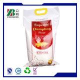 Kunststoffgehäuse-Beutel für Reis-und Weizen-Mehl mit Griff