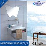 Gabinetes novos do dissipador do banheiro do aço inoxidável da parede do projeto