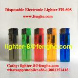 Alumbrador plástico Fh-608 del cigarrillo de gas calidad electrónica recargable del alumbrador de la mejor