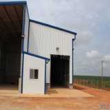 Estructura de acero prefabricados de la luz de la construcción de galpón para Angola