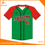 Béisbol modificado para requisitos particulares ropa de deportes superior Jersey de las personas de la sublimación de la venta de Healong