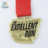 Освободите золотую медаль эмали конструкции изготовленный на заказ идущую с Nylon тесемкой