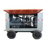 휴대용 디젤 엔진 드라이브 회전하는 나사 공기 압축기