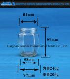 Hexgonalの漏出証拠の帽子が付いているガラス瓶の込み合いの瓶