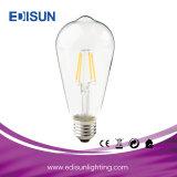 Lâmpada leve do bulbo do diodo emissor de luz do filamento do diodo emissor de luz St64 6W 4PCS