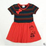 2014 Nouvelles de l'usure d'enfants en été Han Edition filles jolie robe avec manches courtes