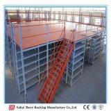 Prateleira do mezanino da qualidade do armazém da fabricação de metal da folha com o Decking do engranzamento de fio