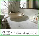 Dessus Cut-to-Size de vanité de Bath de pierre de quartz