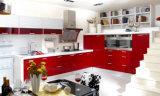 Gabinetes 2017 de cozinha lustrosos da laca da parte alta da mobília da cozinha (zz-033)