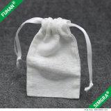 Venta al por mayor del algodón Personalizar bolsa con cordón