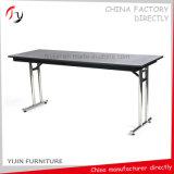 대량 생산 둥근 관 다리 Foldable 크롬 HPL 회의 테이블 (CT-6)