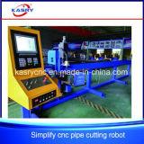Type lourd machine de découpage de plasma de commande numérique par ordinateur pour la pipe en acier d'alliage en métal de tube