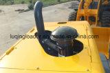 除雪車が付いている普及した車輪のローダー