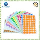 Печатание ярлыка стикера цвета нестандартной конструкции оптовых продаж слипчивое (JP-s001)