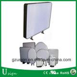 ブランクライトボックスを形作る円形か正方形または長円および不規則形の真空