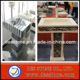 Compuesto de mármol y granito, fregadero de la cuenca del pedestal