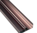 Construction décorative Profil en aluminium aluminium avec finition multi-surface