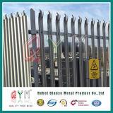 Paliçada de aço galvanizado revestido de PVC/régua de aço paliçada cerca metálica