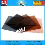 4mm Grenn 또는 건물 유리를 위한 회색 또는 파랗고 또는 청동색 또는 금 단단한 코팅 사려깊은 유리제 가격