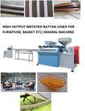 Plastique artificiel de canne de panier de qualité expulsant produisant la machine