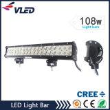 """17 """" 108W 4X4 barra chiara fuori strada impermeabile ad alto rendimento del CREE LED"""
