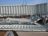 Stahltreppe geschweißt mit Plattform und Handlauf