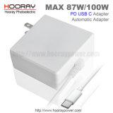 85W 87W Typ c-Aufladeeinheit QC3.0 Universalspannungs-Adapter 5V 9V 12V 15V 20V der Palladium-Schaltungs-Stromversorgungen-USB-C für neue Mac-Laptop-Aufladeeinheit wir EU-Stecker-Adapter