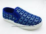Zapatos de ocio de los niños del color del oro con la suela del PVC (ET-AL160250K)