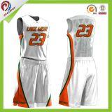 projeto feito sob encomenda do logotipo de Jersey do basquetebol do Sublimation de 100%Polyester Coolmax