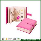 Novo Design inovador Book-Shaped Organizador de jóias em couro