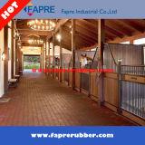 Azulejo de goma de la parada del caballo/caucho rojo que pavimenta el azulejo del caucho de las pavimentadoras del caballo de los bloques