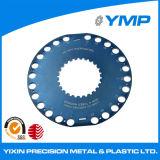 OEM y ODM CNC girando el mecanizado de piezas de aluminio anodizado azul