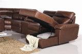 余暇のイタリアの革ソファーの家具(854)