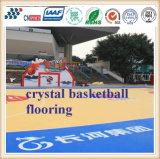 Usine de la Chine de terrain de basket en caoutchouc extérieur de plancher