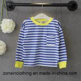 파란 줄무늬 귀여운 아이들 t-셔츠