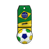 Équipe de football Badge USB Flash Drive OEM PVC USB Pendrive