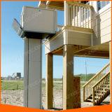 ホームエレベーターの障害者のための縦の車椅子用段差解消機のプラットホーム