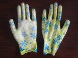 Покрынные PU Nylon перчатки работы работы вкладыша
