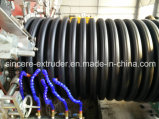 Línea máquina 2400m m de la protuberancia del tubo del espiral de las aguas residuales del drenaje del HDPE del PE 800m m
